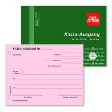 OMEGA Kassa-Ausgangsbuch 2916A A6 quer 3 x 50 Blatt rosa/rosa/weiß