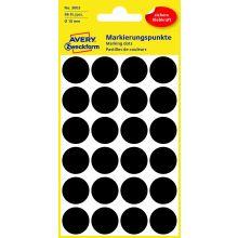 AVERY ZWECKFORM Markierungspunkte 3003 96 Stück permanent Ø 18 mm schwarz