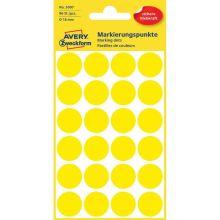 AVERY ZWECKFORM Markierungspunkte 3007 96 Stück permanent Ø 18 mm gelb