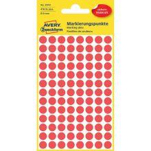 AVERY ZWECKFORM Markierungspunkte 3010 416 Stück permanent Ø 8 mm rot