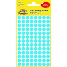 AVERY ZWECKFORM Markierungspunkte 3011 416 Stück permanent Ø 8 mm blau