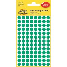 AVERY ZWECKFORM Markierungspunkte 3012 416 Stück permanent Ø 8 mm grün