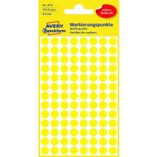 AVERY ZWECKFORM Markierungspunkte 3013 416 Stück permanent Ø 8 mm gelb