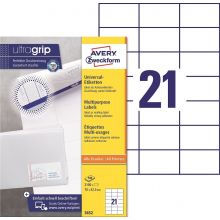 AVERY ZWECKFORM Universaletiketten ultragrip 3652 2.100 Stück 70 x 42,3 mm weiß