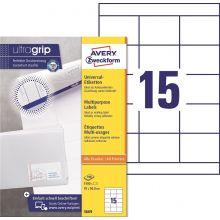 AVERY ZWECKFORM Universaletiketten ultragrip 3669 1.500 Stück 70 x 50,8 mm weiß