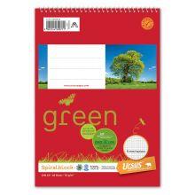 URSUS GREEN Spiralblock A5 48 Blatt 70 g/m² kariert