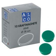 ALCO Haftmagnete 6848 10 Stück Ø 38 mm dunkelgrün