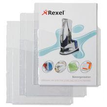 REXEL Faltentasche A4 5 Stück transparent