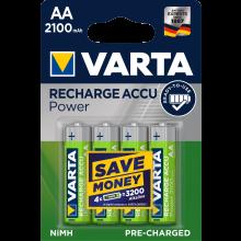 VARTA Batterien Rechargeable Accu Mignon AA 4 Stück grün