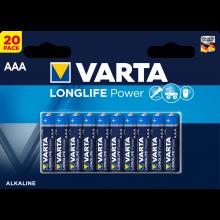 VARTA Batterien Longlife Power AAA LR03 20 Stück 1,5 Volt