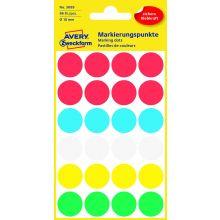 AVERY ZWECKFORM Markierungspunkte 3089 96 Stück permanent Ø 18 mm farbig sortiert
