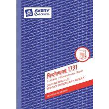 AVERY ZWECKFORM Rechnung 1731 A5 hoch 3x40 Blatt