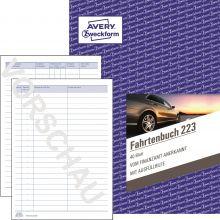 AVERY ZWECKFORM Fahrtenbuch 223 A5 hoch 40 Blatt weiß