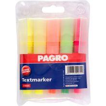 PAGRO Textmarker 5 Stück mehrere Farben