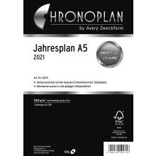 AVERY ZWECKFORM Jahresplan Chronoplan 50271 DIN A5 2 Blatt für 2021