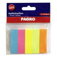 PAGRO Pagemarker 5x100 Blatt 15 x 50 mm