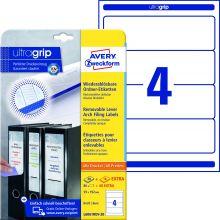AVERY ZWECKFORM Ordneretiketten ultragrip L6061REV-20 120 Stück breit 59 x 192 mm weiß