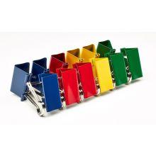 ALCO Foldback-Klammern 781 A 6 Stück 19 mm farbig sortiert