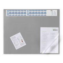 DURABLE Schreibunterlage mit Jahreskalender 65 x 52 cm grau