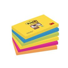 POST-IT Haftnotizen Super Sticky 6556SR 6 Blöcke à 90 Blatt 76 x 76 mm mehrfarbig