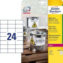 AVERY ZWECKFORM Wetterfeste Etiketten L4718-20 480 Stück 70 x 37 mm weiß