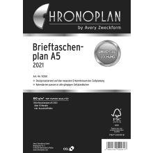 AVERY ZWECKFORM Brieftaschenplaner Chronoplan 50261 DIN A5 30 Blatt für 2021