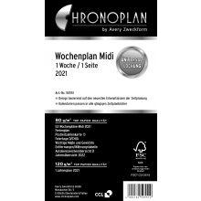 AVERY ZWECKFORM Wochenplan Chronoplan 50551 Midi 70 Blatt für 2021