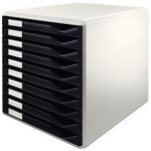 LEITZ Schubladenbox  5281 10 Laden 35,5 x 28,5 x 29 cm schwarz