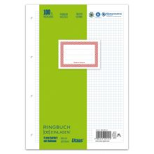 URSUS GREEN Ringbucheinlagen A4 100 Blatt kariert mit Rahmen