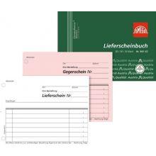 OMEGA Lieferscheinbuch 943 1/2 A6 quer 3 x 50 Blatt weiß/rosa/weiß