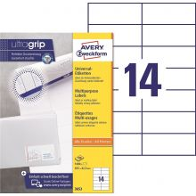 AVERY ZWECKFORM Universaletiketten ultragrip 3653 1.400 Stück 105 x 42,3 mm weiß