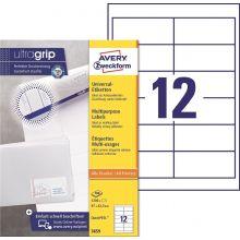 AVERY ZWECKFORM Universaletiketten ultragrip 3659 1.200 Stück 97 x 42,3 mm weiß
