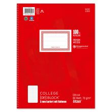 URSUS Collegeblock A4 80 Blatt 70 g/m² kariert
