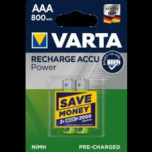 VARTA Batterien Rechargeable Accu Micro AAA 2 Stück grün