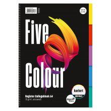 URSUS Collegeblock Five Colour A4 100 Blatt kariert