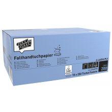 CLEAN & CLEVER Falthandtuch SMA200 3.750 Stück 23 x 24,8 cm 2-lagig weiß