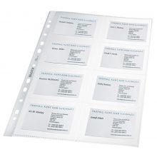 LEITZ Visitenkartenhülle 4758 10 Stück A4 für 16 Karten transparent