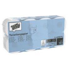 CLEAN & CLEVER Toilettenpapier SMA103 48 Rollen 2-lagig weiß