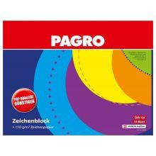 PAGRO Zeichenblock A4 110g/m² 18 Blatt 2er