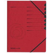 HERLITZ Ordnungsmappe Quality DIN A4 7 Fächer Karton rot