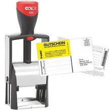 COLOP Textstempel Classic 2300 30 x 45 mm 7-zeilig mit Gutschein