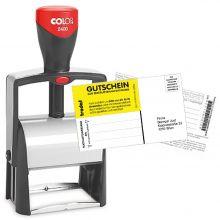 COLOP Textstempel Classic 2400 27 x 58 mm 6-zeilig mit Gutschein