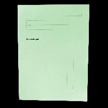 Evidenzbogen für Universitäten Offsetkarton in der Farbe grün