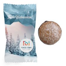 Lebkuchengebäck mit Schokolade und Zuckerglasur, 13g, 4c-Digitaldruck, Druckdatei: 140x100mm