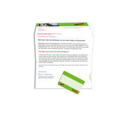 C6/5-Kuvertmailing mit Easy-Card Kundenkarte