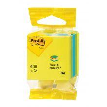 POST-IT® Haftnotizwürfel 2012L 400 Blatt 51 x 51 mm mehrfarbig