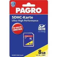 PAGRO Speicherkarte SDHC 8 GB
