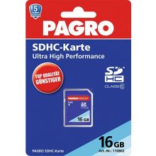 PAGRO Speicherkarte SDHC 16 GB