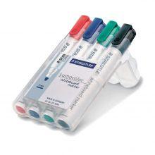 STAEDTLER Whiteboardmarker Lumocolor 351 mit Rundspitze 4 Stück 2 mm farbig sortiert