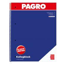 PAGRO Kollegeblock A4 80 Blatt liniert 2 Stück